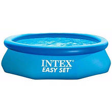 Сімейний круглий наливний басейн Intex 28116 з міцного ПВХ (розмір 305х61 см), колір синій