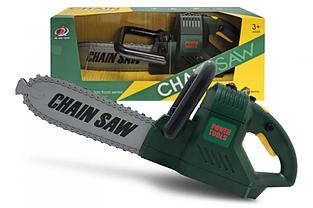 Детская игрушечная бензопила CHAIN Saw на батарейках со светом и звуком 0223-14