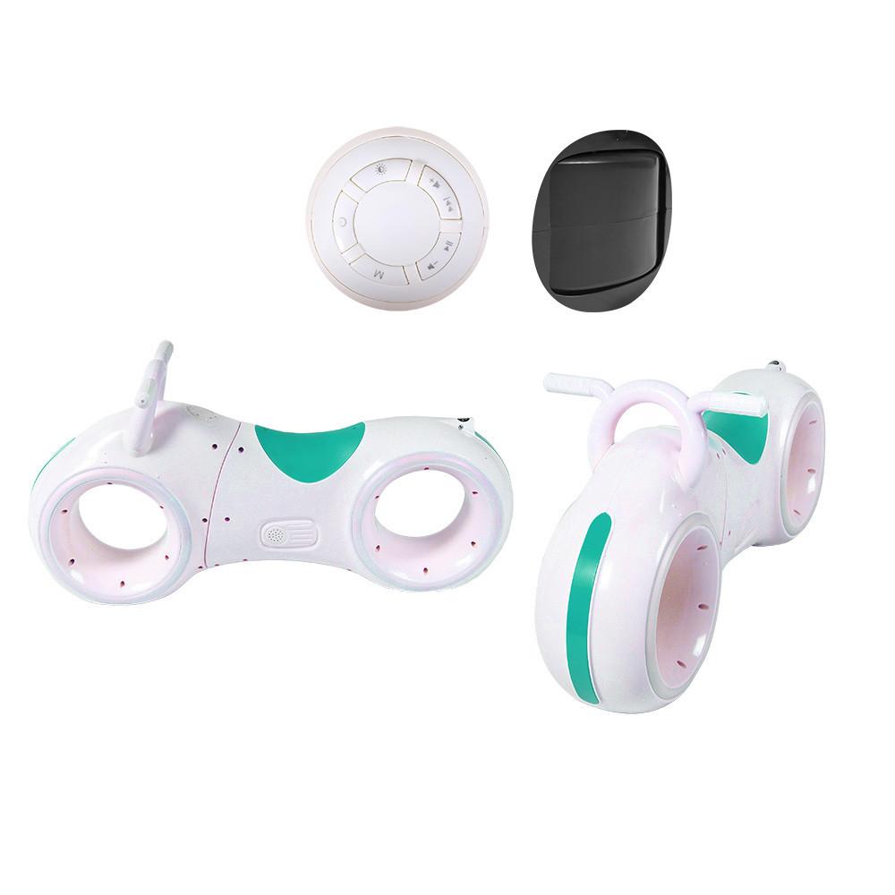 Дитячий космічний беговел GS-0020 з LED-підсвіткою, bluetooth і звуковими ефектами колір білий з зеленим