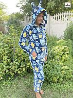 Комбінезон дитячий кигуруми махровий єдиноріг теплий монстри для хлопчика р. 36-42