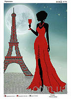 """Схема для вышивки бисером """"Парижанка"""""""