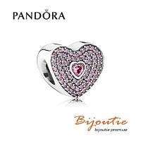 Pandora шарм ЛЮБИМАЯ 791555CZS серебро 925 Пандора  оригинал