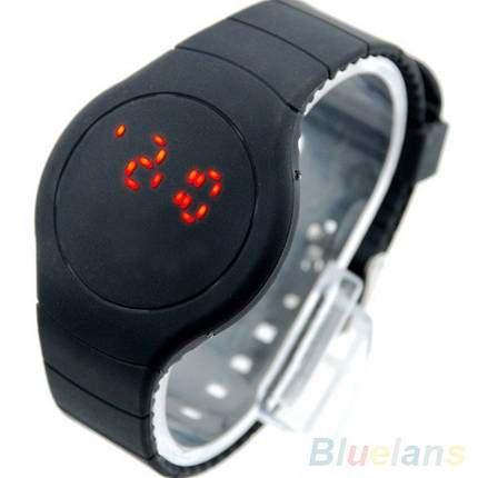 Часы светодиодные сенсорные Black Mark (∅40 мм), фото 2