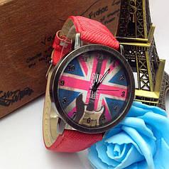 Кварцові наручні годинники на джинсовому ремінці Britania Red Rock