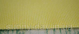 Канва для вышивки Аида 14, цвет - желтый/перламутровый люрекс  (29х29см)