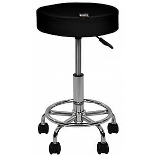 Стул мастера косметолога круглый на колесиках без спинки Bonro B-497 для салона красоты