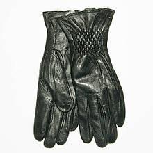 Жіночі шкіряні зимові рукавички на хутрі кролика (хутро штучне) - F11-1