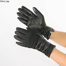Жіночі замшеві рукавички зі шкіряною долонею з вовняної підкладкою - №F23-4