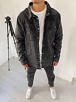 Рубашка джинсовая мужская черная