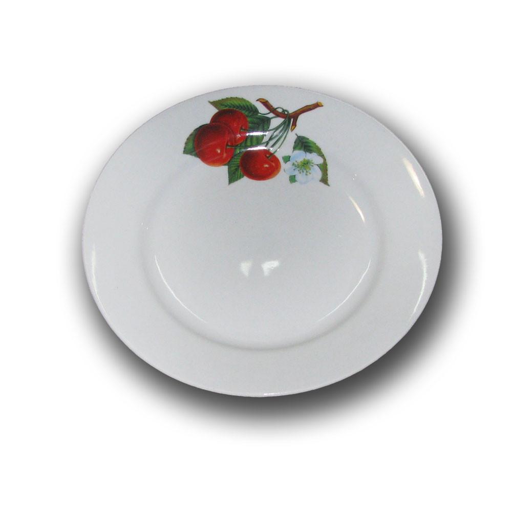 Тарелка фарфоровая 175мм. Вишня