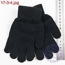Трикотажные подростковые перчатки с начесом - №17-3-4