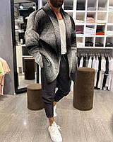 Кардиган мужской модный серого цвета. Мужской стильный кардиган серый.