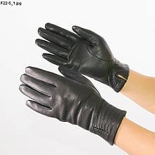 Жіночі рукавички з оленячої шкіри на в'язаній шерстяній підкладці - F22-5 6,5