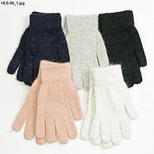 Підліткові ангорові рукавички від 14 років для дівчаток - №18-5-58
