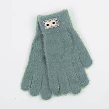Ангорові рукавички для підлітків 12-16 років - 19-7-50 - Сірий
