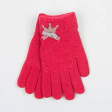 Перчатки для девочек подростков 12-16 лет - 19-7-52 - Коралловый