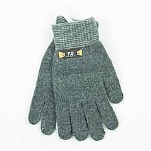Підліткові демісезонні рукавички для хлопчиків від 15 років - 19-7-57 - Сірий