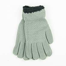 Двойные перчатки для подростков на 12-16 лет - 19-7-58 - Серый