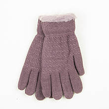 Двойные перчатки для подростков на 12-16 лет - 19-7-58 - Сиреневый