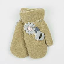 Дитячі рукавички з хутряною підкладкою на 4-6 років - 19-7-73 Бежевий