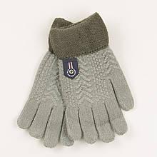 Перчатки для мальчиков на 5-7 лет - 19-7-54 Серый