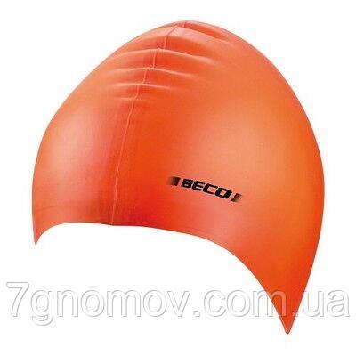 Шапочка для плавания силиконовая BECO 7390 3 оранжевая, фото 2