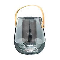 Кашпо Стеклянный глянец подставка под цветы 14*12 см
