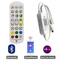 Контролер Led RGB 5-24В 6А Bluetooth музичний пульт IR 24 кнопки для освітлення, фото 1