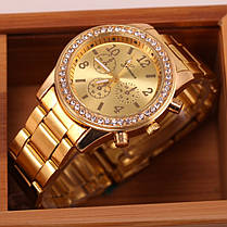 Кварцевые наручные часы Gold Strass, фото 2