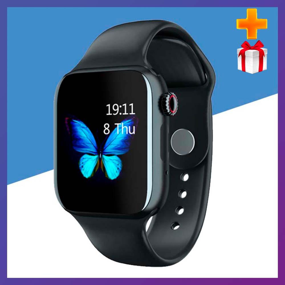 Смарт часы  Умные часы Smart Watch Z13 с сенсорным экраном и пульсометром черные + ПОДАРОК