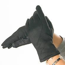 Женские перчатки из искусственной замши с узором (арт. 19-1-51-5) S