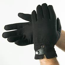 Чоловічі зимові трикотажні рукавички з штучним хутром (арт. 18-1-29 / 2) М