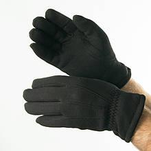 Чоловічі зимові трикотажні рукавички з штучним хутром (арт. 18-1-29 / 3) М