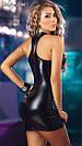 Латексне міні сукня на блискавці., фото 2