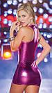 Латексне міні сукня на блискавці., фото 8