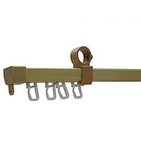 Рейка Дуб Светлый 2,40 метра для трубчатого карниза, U- шина, с крючками, металлическая, крепится на кронштейн