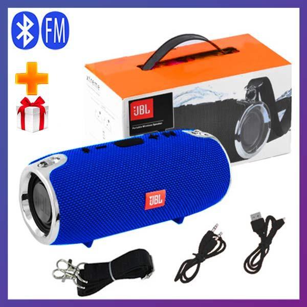 Портативна Bluetooth колонка JBL XTREME MINI c функцією speakerphone радіо синя + Подарунок