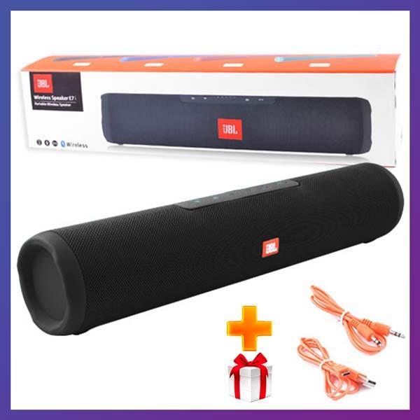 Портативная Bluetooth колонка JBL E7 c функцией speakerphone радио MP3 microSD TF + USB черная + Подарок