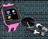 Дитячі смарт годинник Smart Baby watch G3 камера ігрові години сім карта рожеві + Подарунок, фото 3