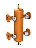 Гидрострелка ОГС-Ф-70-КИП (до 1210 кВт) фланец Ду125