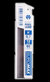 Стрижні до мех.олівців 12шт H 0.7мм