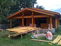 Строительство бань, саун из оцилиндрованного бревна в Харькове