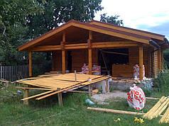 Строительство бань, саун из оцилиндрованного бревна