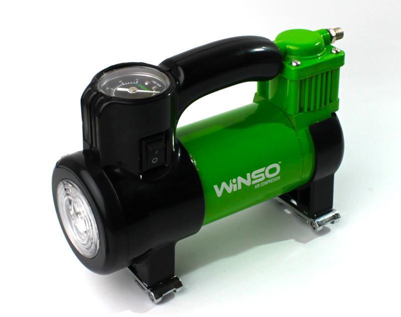 Автокомпрессор 7Атм, 150Вт, 35л/хв, от прикуривателя, LED фонарь, подсветка манометра, WINSO (Польша