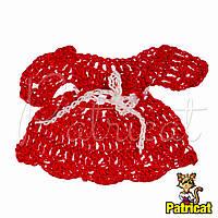 Мини декор Платье вязаное Красное 7x5 см HandMade