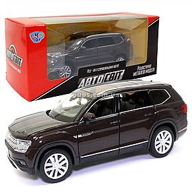 Машинка металлическая Volkswagen «Автосвіт» Фольксваген джип коричневый, свет, звук, 14*5*6 см (AS-2709)