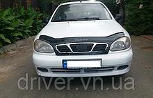 Дефлектор капота (мухобойка) Daewoo Lanos 2005-/Chevrolet Lanos 2005- /з решіткою радіатора