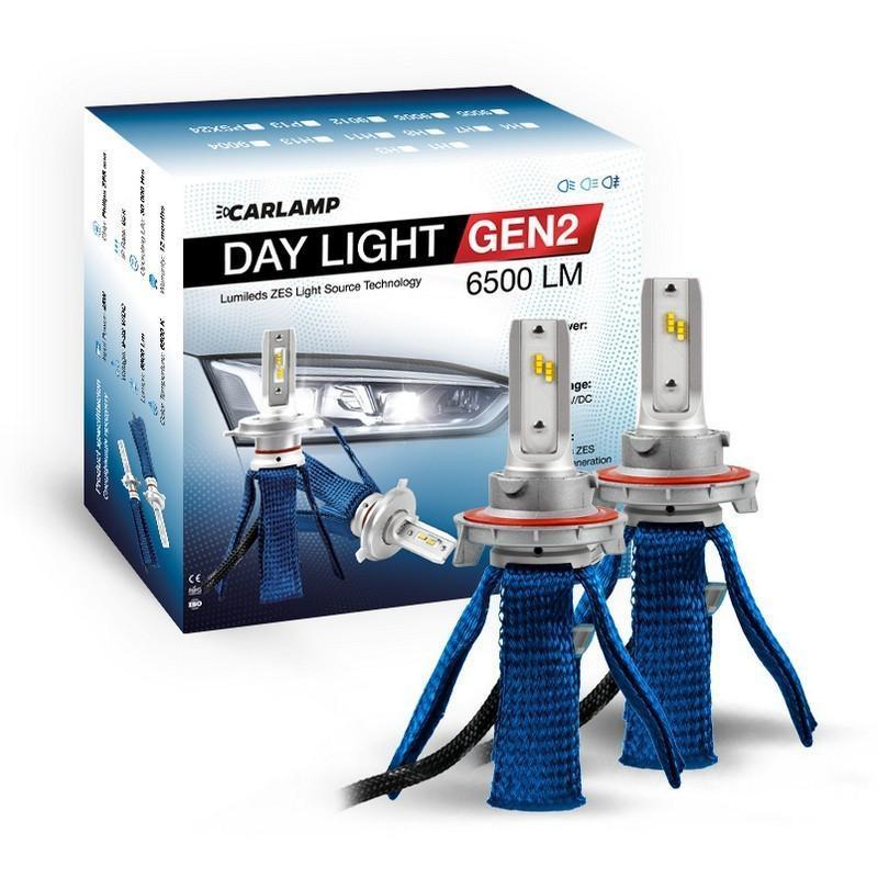 Світлодіодні автолампи H13 CARLAMP Day Light GEN2 Led для авто 6500Lm 6000K (DLGH13)