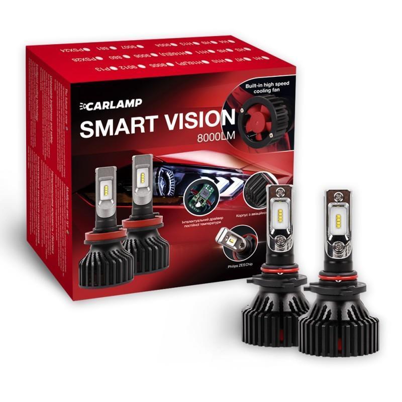Светодиодные автолампы HB3 CARLAMP Smart Vision Led для авто 8000 Lm 6500 K (SM9005)