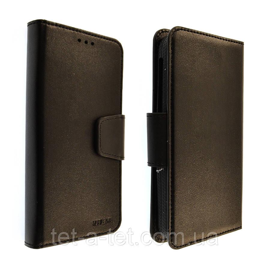 Универсальный чехол-книжка Mobileare с кармашком для визиток и документов, размер 6.0-6.5 (Черный)